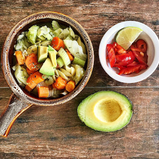 Vegetable Soup with Avocado