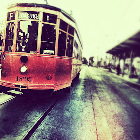Trams of San Francisco  by Abi Gilson - Instagram & Mobile iPhone ( bus, street, edit, tram, travel, san francisco )
