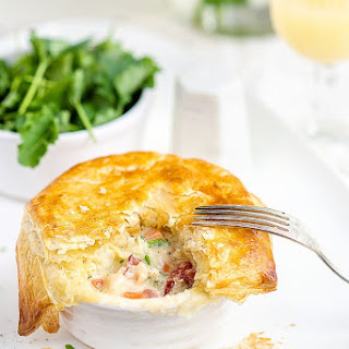 Lobster Pot Pies With Puff Pastry Crust.
