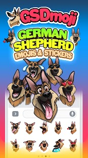 GSDmoji German Shepherd emojis- screenshot thumbnail