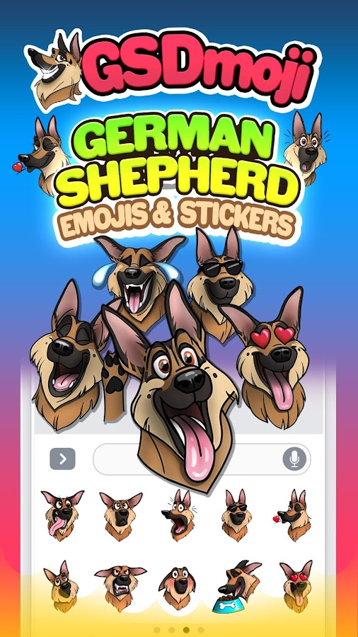 GSDmoji German Shepherd emojis- screenshot