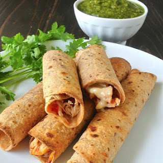 Shredded Chicken Baked Taquitos