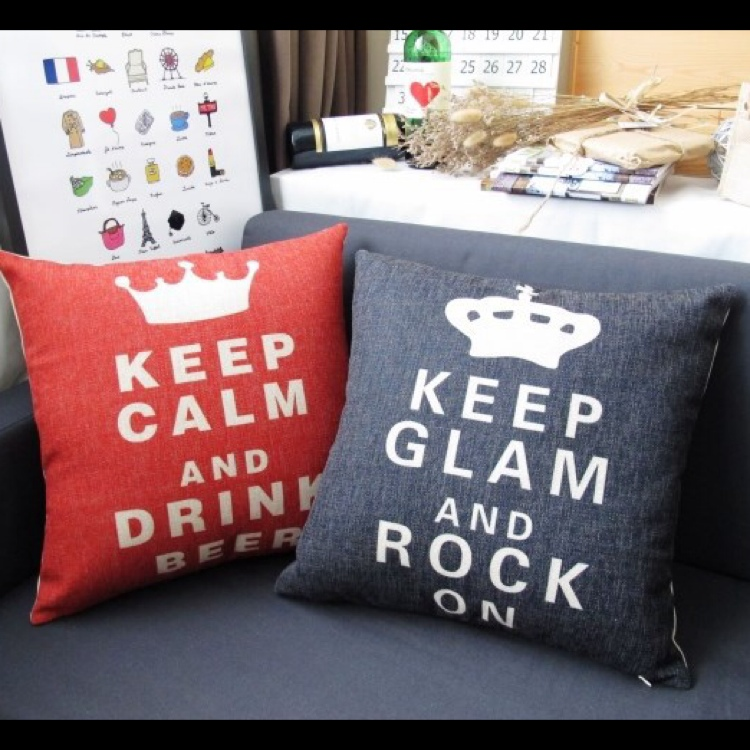 Keep Calm Sofa Cushion Throw Pillow Case Cover