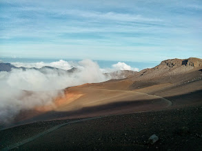 Photo: The path down into Haleakala crater
