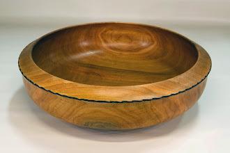 "Photo: Richard Webster 12"" x 3"" bowl [cherry]"