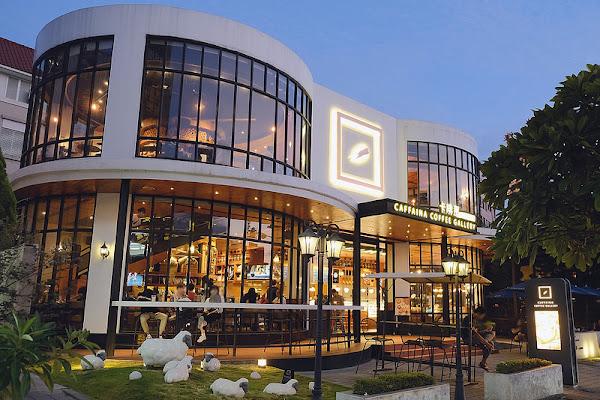 卡啡那 Caffaina Coffee Gallery 惠來店!來自高雄的不限時人氣咖啡廳,歐式建築的浪漫氛圍愈夜愈美麗!台中好吃麵包推薦!