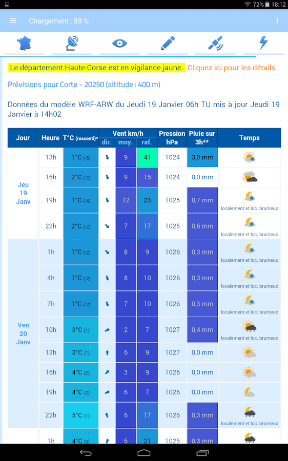 Meteo60 – Capture d'écran