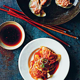Kimchi Noodle Dumplings With Dipping Sauce Recipes