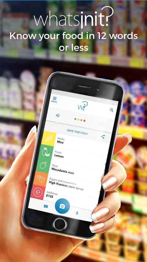 Whatsinit? Food ingredients and allergies scanner- screenshot