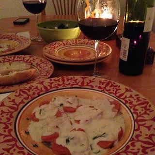 Crab Ravioli and White Wine Cream Sauce.