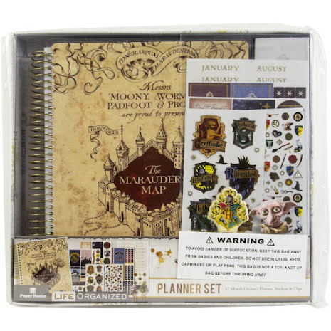 Paper House 12-Month Planner Set - Harry Potter Marauders Map