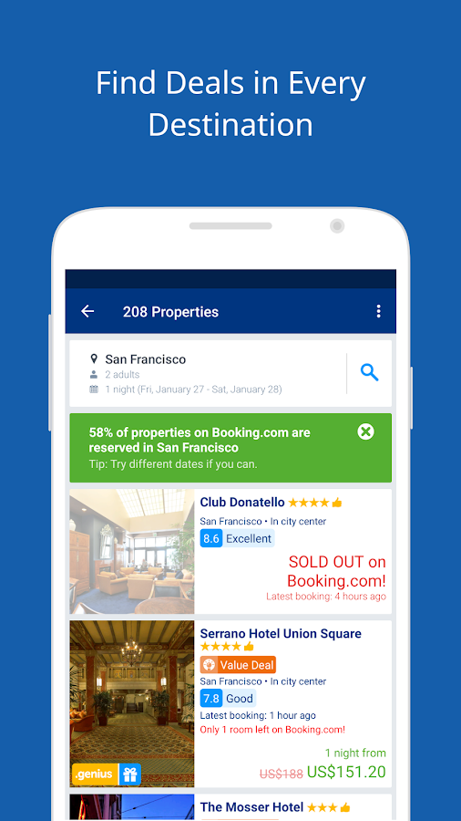 Booking.com Hotels & Vacation Rentals- screenshot