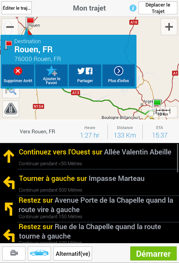 CoPilot GPS - Navigation – Capture d'écran