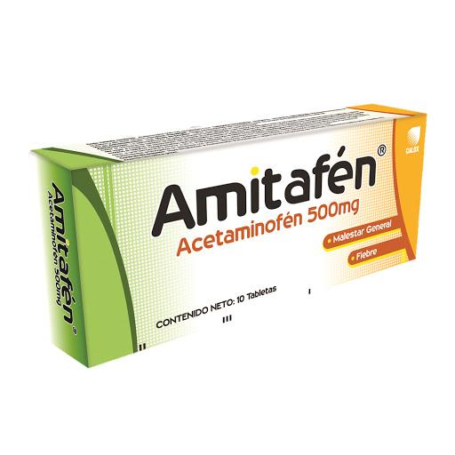 Acetaminofen Amitafen 500 mg x 10 tabletas