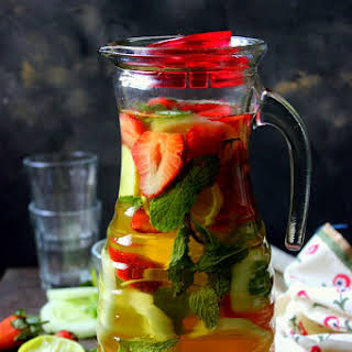 Strawberry Cucumber Iced Green Tea.