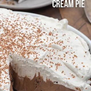 No Bake Chocolate Cream Pie.
