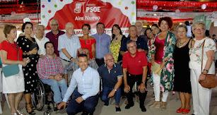 La Agrupación Municipal del PSOE con Fernando Martínez a la cabeza.