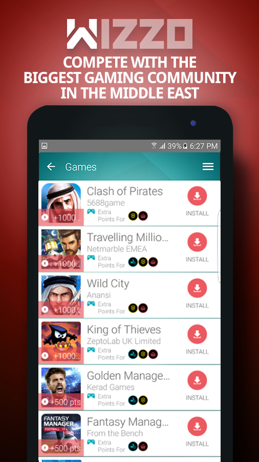 Screenshots of WIZZO – Play games, win prizes for iPhone