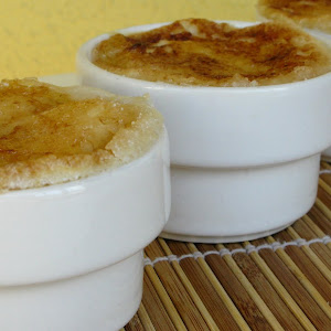 Souffle with Caramelized Croutons