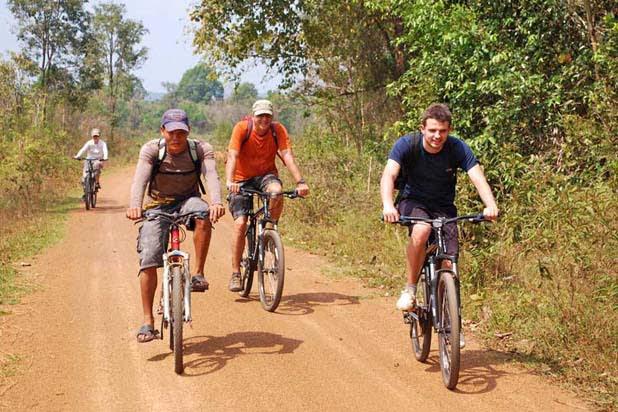 Signature Cambodia with bike