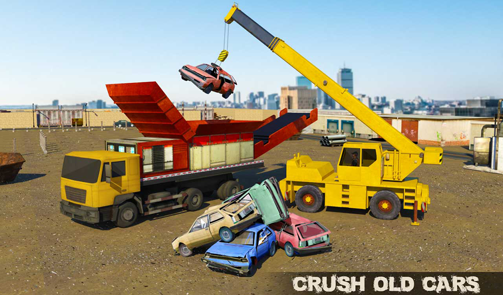 Old Car Crusher Crane Operator & Dump Truck Driver- screenshot