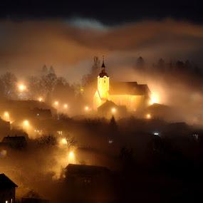 Foggy town by Zoran Stanko - News & Events Weather & Storms ( swen11, fog, news, event, croatia, weather, hrvatska, mist )
