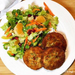 Pan Fried Chicken Cakes.