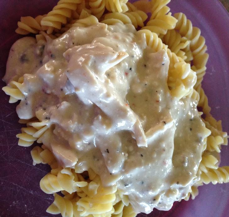Crock-Pot Creamy Italian Chicken Over Pasta Recipe