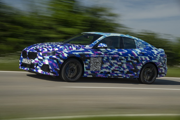 The soon-to-be-launched BMW 2 Series Gran Coupé testing in camouflage.