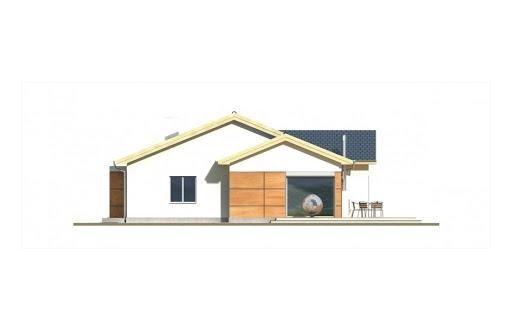 Agatka wersja B dach 32 stopnie - Elewacja prawa