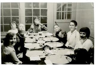 Photo: Frank Stapleton's 10th Birthday, January 19, 1959 Ruth Malmgren, Corky Holt, Lois Leavitt, Frank Stapleton, Lindsey Buckingham, Bruce Siegel, Sue Gamlen, Russell Ehrman (L to R )