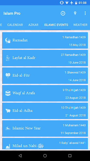 eMuslim - Islam Prayer Times, Hadith, Azan & Qibla app (apk) free download for Android/PC/Windows screenshot