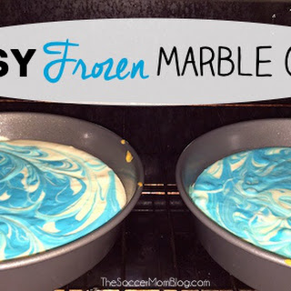 Easy Marbled Frozen Birthday Cake