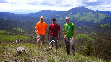 Photo: Tim, Mark, Me on Windy Mountain - Highwood Baldy in background