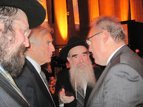 Photo: Chief of staff To Turkey with Rabbi Avraham ShemTov, Eli Wiesel, And Chabad Rabbi to Turkey