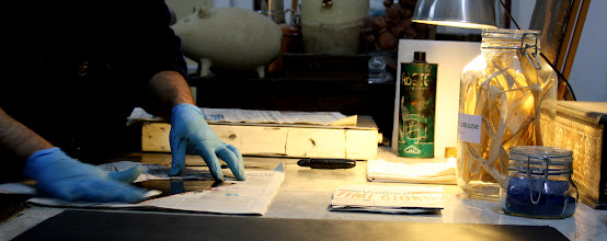 Photo: La preparazione della lastra