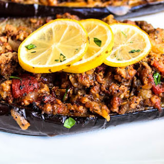 Lamb Stuffed Eggplant.