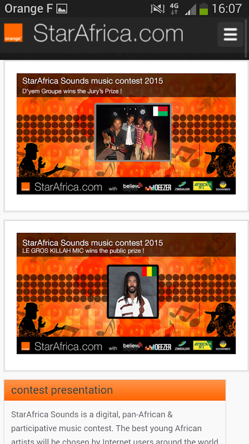 StarAfrica- screenshot