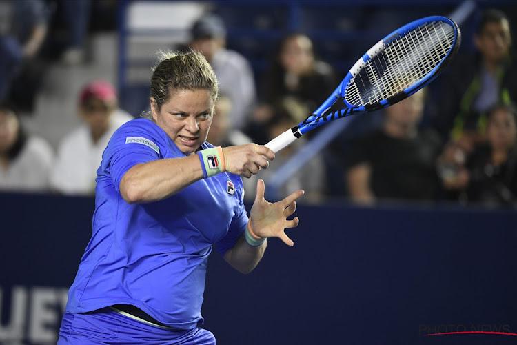 Kim Clijsters wint gemengd dubbel tegen Bouchard op WTT, team van de Belgische verliest wel van de leider