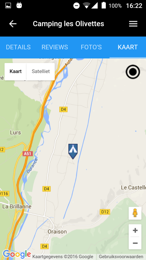 alle campings in Frankrijk- screenshot