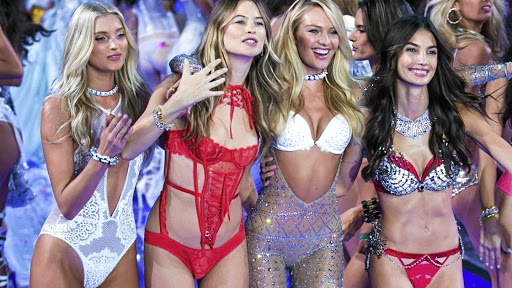 Models Elsa Hosk, Behati Prinsloo, Candice Swanepoel, and Lily Aldridge.
