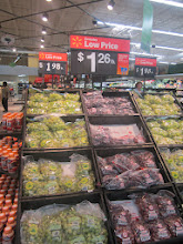 Photo: then it was on to the fresh produce - great deal on red grapes!