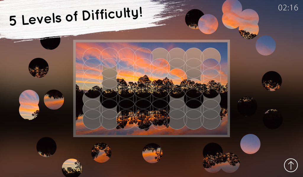 Venn Sunrises: Circle Jigsaw- screenshot