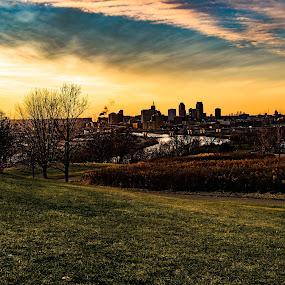 by Chase Maurine - City,  Street & Park  Vistas