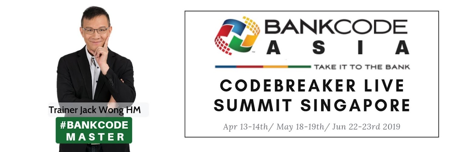 Codebreaker Live Summit Asia APRIL 2019 Singapore BANKCODE Fundamentals & Speedcoding