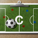 Soccer coach's clipboard icon