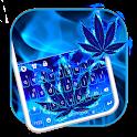 Blue Weed Glow Keyboard Theme icon