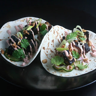 Korean Pork Belly Tacos.