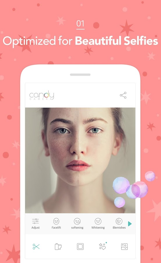 Candy Camera for Selfie- screenshot