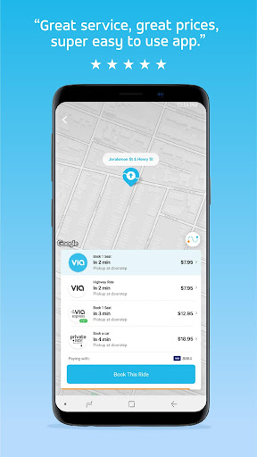 Via: Low-Cost Ride-Sharing 3.7.2 screenshots 1